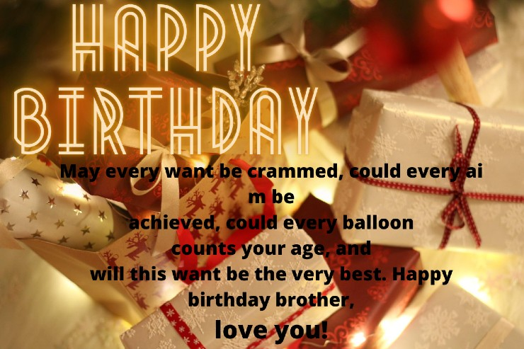 Happy Birthday Paragraph For Brother