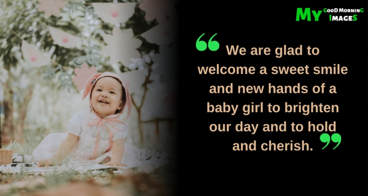 Welcome Status For New Born Baby Girl